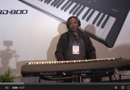 ROLAND RD800 DEMO AT WINTER NAMM 2014