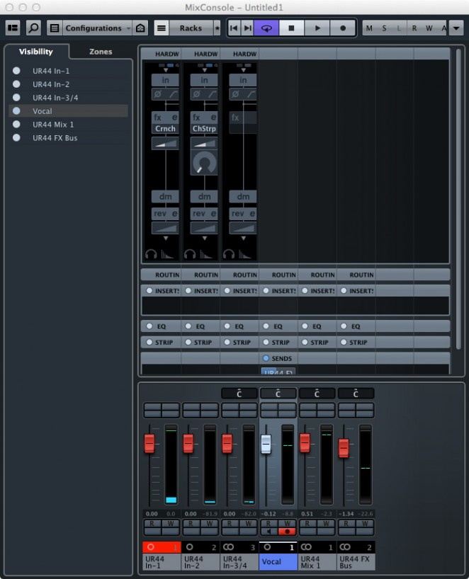 Project templates for Cubase