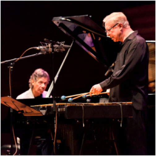 Chick Corea and Gary Burton   photo by M Findlay – supplied by MIJF