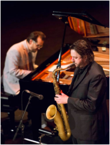 Julien Wilson and Barney McAll   image by N Bell – supplied by MIJF