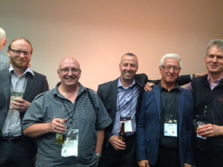 Steve Vranch (Yamaha Music), Les Brazil (GH music), Mark Amory (Yamaha),  John Goldsmith (Kosmic) and Ivan Stefenchuk (Better Music)