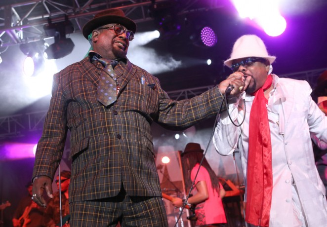 Musician George Clinton performs at the 2015 National Association of Music Merchants show at the Anaheim Convention Center on January 23, 2015 in Anaheim, California.  (Photo by Jesse Grant/Getty Images for NAMM)