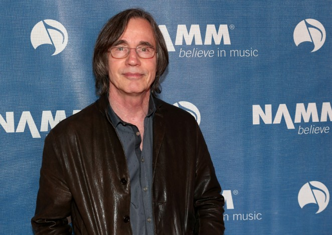 inger-songwriter Jackson Browne attends the 2015 National Association of Music Merchants show at the Anaheim Convention Center on January 24, 2015 in Anaheim, California.  (Photo by Jesse Grant/Getty Images for NAMM)