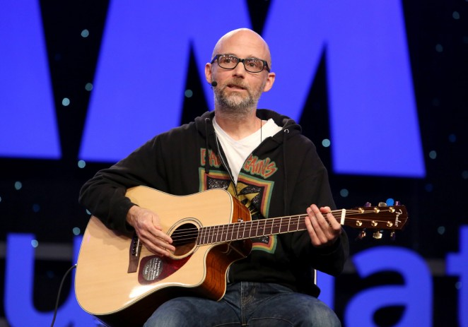 Musician Moby attends the 2015 National Association of Music Merchants show at the Anaheim Convention Center on January 22, 2015 in Anaheim, California.  (Photo by Jesse Grant/Getty Images for NAMM)