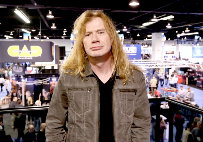 Megadeth's Dave Mustaine attends the 2015 National Association of Music Merchants show at the Anaheim Convention Center on January 23, 2015 in Anaheim, California.  (Photo by Jesse Grant/Getty Images for NAMM)