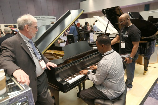 A general view of atmosphere at the 2015 National Association of Music Merchants show at the Anaheim Convention Center on January 23, 2015 in Anaheim, California.  (Photo by Jesse Grant/Getty Images for NAMM)