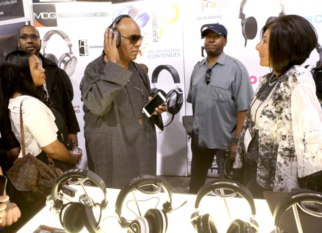Musician Stevie Wonder attends the 2015 National Association of Music Merchants show at the Anaheim Convention Center on January 23, 2015 in Anaheim, California.  (Photo by Jesse Grant/Getty Images for NAMM)