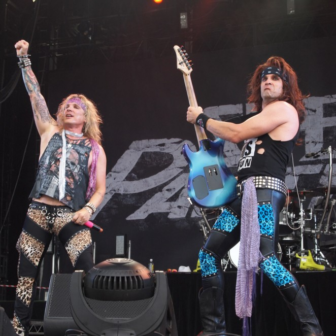 Steel Panther triumph. Pic Greg Phillips